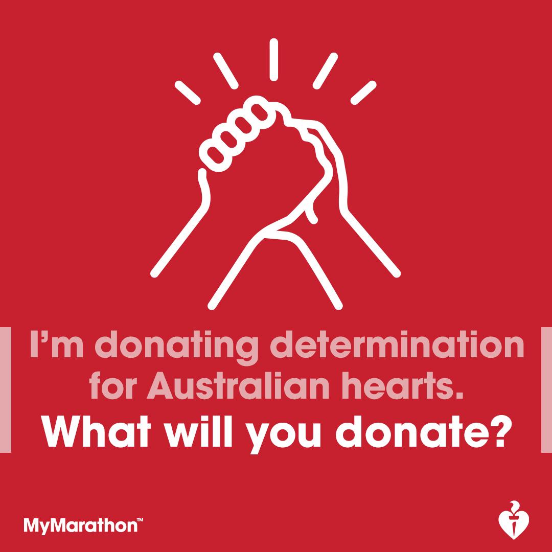Social Post - I'm donating determination
